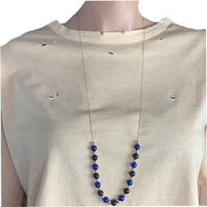 "Jewelry - 30"" Beaded Gold Tone Necklace"